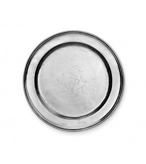 Pewter round plate ø cm 28