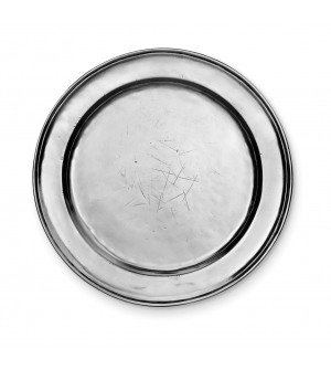 Pewter round plate ø cm 34
