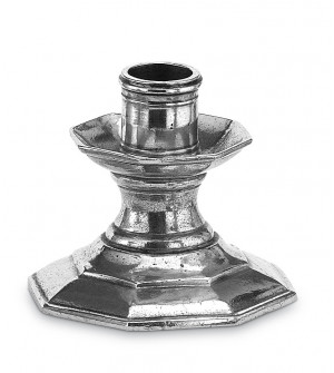 Pewter octagonal candlestick cm 8