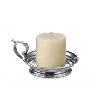 Pewter candle holder
