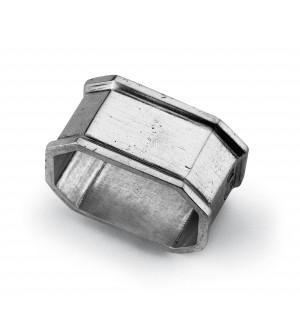 Pewter octagonal nakpin ring cm 5,5