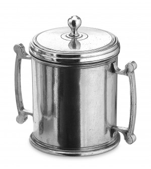 Pewter tea canister h cm 15
