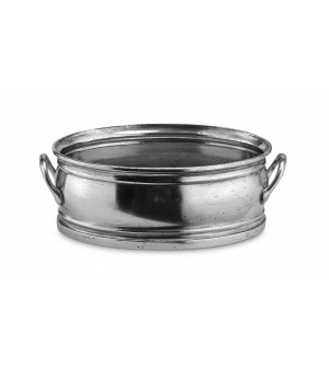 Pewter oval planter