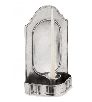 Pewter wall candle holder 15x27 cm