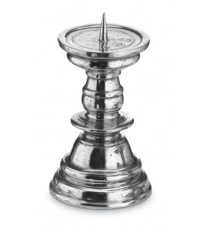 Pewter candlestick cm 16