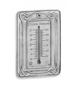 Pewter thermometer cm 12x17 h