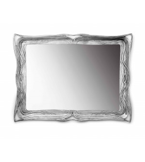 Pewter liberty wall mirror cm 32x42