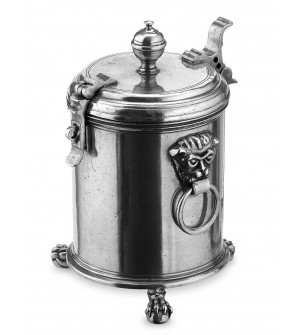 Pewter tobacco canister h cm 23