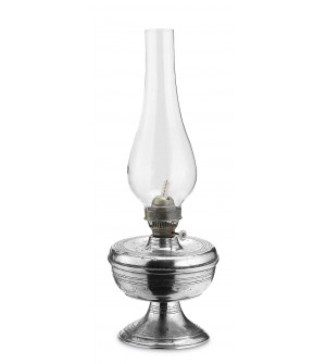 Pewter oil lamp cm 32