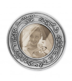 Pewter round picture frame ø cm 14,5 (ø cm 10)