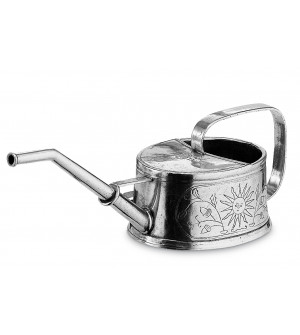 Pewter oval watering can cm 15x11,5 h 10,5