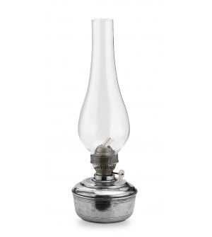 Pewter oil lamp h cm 26