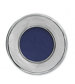 Pewter round smooth picture frame