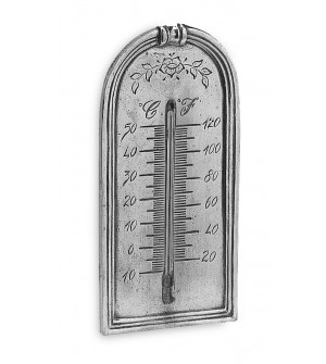 Pewter thermometer cm 7,5x15 h