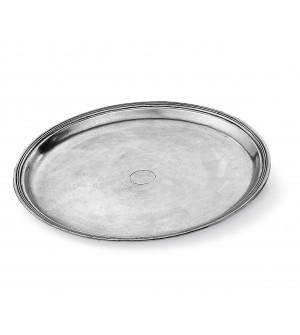Pewter medium round tray ø cm 34