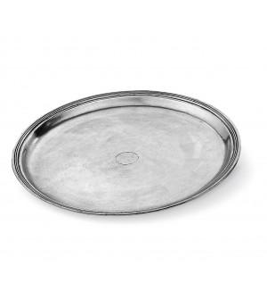 Pewter round tray ø cm 38