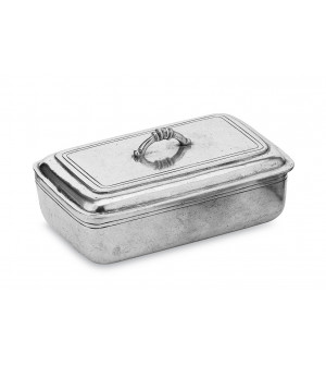 Pewter rectangular box