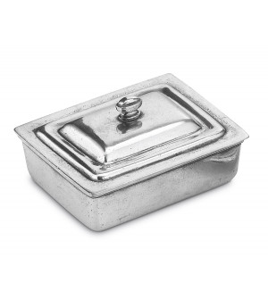 Pewter butter dish cm 10,5x13