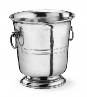 Pewter champagne bucket h cm 22