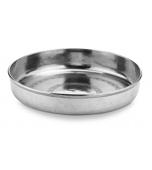 Pewter round fruit bowl ø 36 h 7 cm