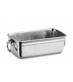 Pewter rectangular planter cm 13x23
