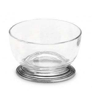 Pewter & crystal small bowl ø cm 10,5