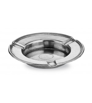 Pewter round ashtray