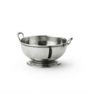 Pewter small bowl with handles ø cm 16 h cm 7,5
