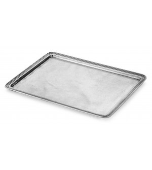 Pewter rectangular large tray cm 33,5x45