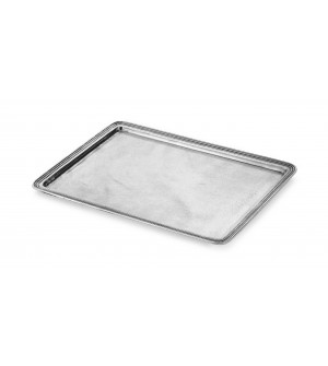 Pewter medium rectangular tray cm 24x34