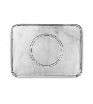 Pewter rectangular placemat cm 29x39