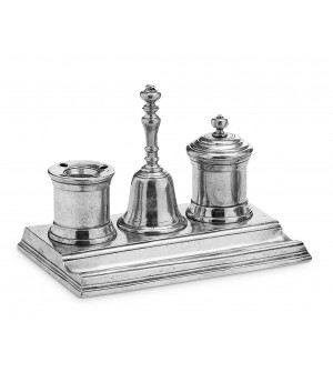 Calligraphy Pewter desktop set cm 15,5x24,5