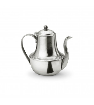 Pewter oval coffee pot cm 13,9x19 h