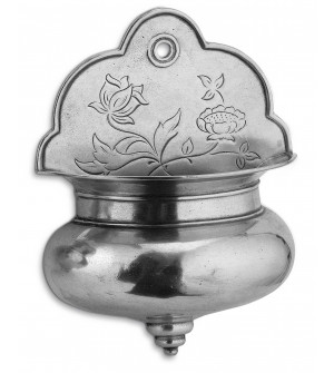 Pewter holy water stoup cm 24