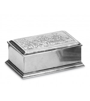 Pewter jewelry box cm 11x17,5 h 7