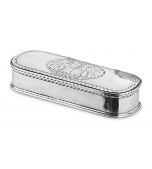 Pewter oval box cm 9x24 h 4,5