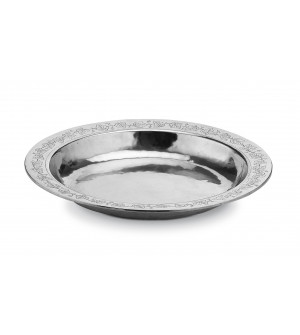 Pewter round fruit bowl ø 43 h 5 cm