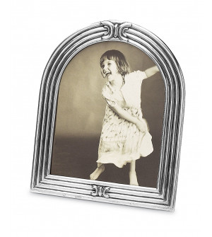 Pewter arched picture frame cm 28x33 (cm 21x26,5)