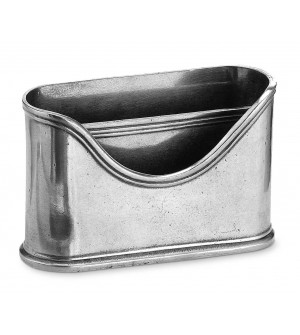 Pewter letter holder cm 5x15x9,5