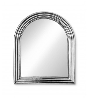 Pewter arched wall mirror cm 42x50