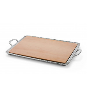 Pewter & wood cheese tray cm 24x34