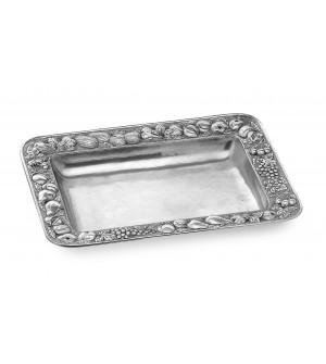 Pewter rectangular platter cm 37x50 h cm 6