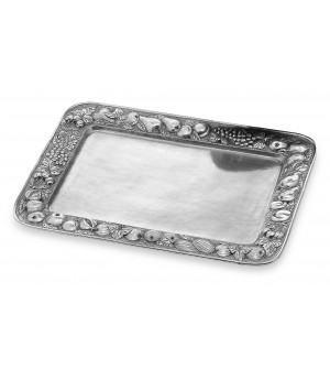Pewter rectangular tray cm 37x50