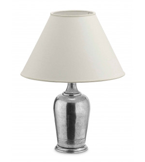 Pewter lamp h cm 40 w/shade ø 30