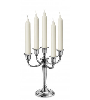Pewter 5-light candelabra cm 29