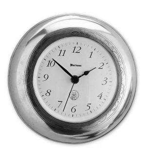 Pewter round wall clock ø cm 19
