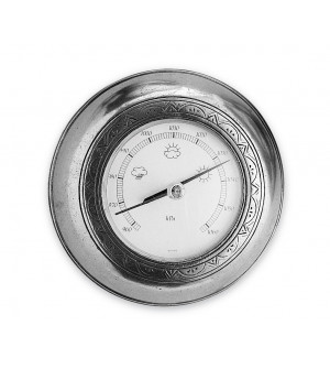 Pewter wall barometer cm 13