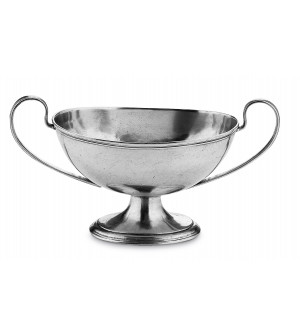 Pewter oval footed bowl cm 14x32x13