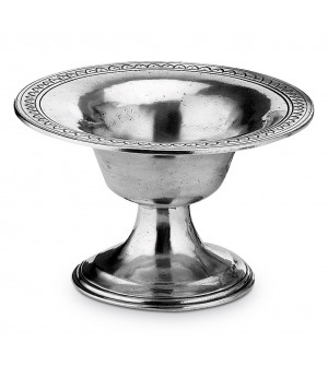 Pewter small footed bowl ø cm 16,5 - h cm 10