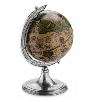 Pewter globe h cm 34 ø 20